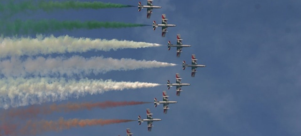 frecce tricolore a Lignano il 15 agosto